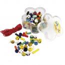 Rocailles mezclar confeti con hilo de caucho, mixt