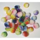 Pompons Rainbow, mixed, 35 pieces