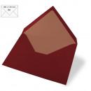 Envelope B6, plain, FSC Mix Credit, burgundy, 5 pi