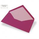 Envelope DIN Lang, plain, FSC Mix Credit, red magm
