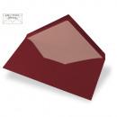 Envelope DIN Lang, plain, FSC Mix Credit, burgundy