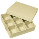 Paper mache sorting box FSC Recycled 100%,