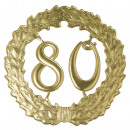 Großhandel Handwerkzeuge: Zahlenkranz 80 , 19cm ø, gold,