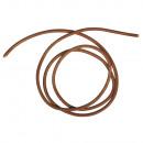 Cowhide round leather belt, 2mm ø, medium brown, 2
