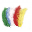 Velcro feather mixture, multicolored, 15 pieces