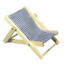 grossiste Meubles de jardin: Bain de soleil en bois, bleu royal, 1 pièce