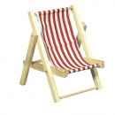 wholesale Garden Furniture: Wooden sunlounger, classic red, 1 piece