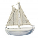 Polyresin-Segelboot, hellblau,