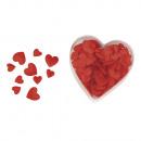 satijn - Stofverstrooiende delen: hart, gewatteerd