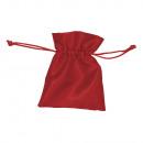 szatén táska, piros, 6 db