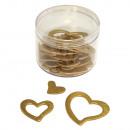 Houtverstrooiende delen: harten, goud, 24 stuks