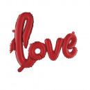 Globo de papel con letras amor, rojo clásico, 1 pi