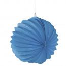 Papier Lampion, 22cm ø, azurblau, 1 Stück