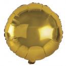 Fólia ballon kerek, 44cm ø, arany, 1 db