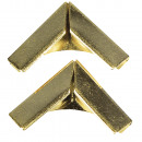 Metalen hoeken voor boekomslagen, goud, 4 stuks