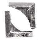 Metalen hoeken voor boekomslagen, zilver, 4 stuks