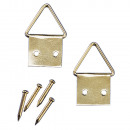 Picture hanger brass, 10 pieces
