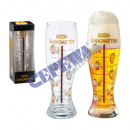 wholesale Weather Stations: Giant beer glass barometer, 1.5 l