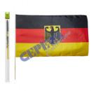 Stabfahne Deutschland 60x90cm mit Adler