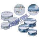 Jar Christmas Cookie, 3 szt., okrągłe, 2-krotnie s