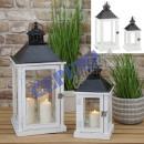 """wholesale Wind Lights & Lanterns: Lantern """"Basic"""", set of 2, white"""