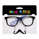 grossiste Electronique de divertissement: des lunettes de  Nerd avec barbe, 14cm