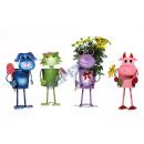 Großhandel Blumentöpfe & Vasen: Übertopf  Lustige  Tiere , 4/s, ca. 28 cm