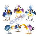wholesale Garden Decoration & Illumination: Decorative Bird Swing Birdy sorted,