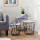 wholesale Organisers & Storage: Table set basket, flamed, 3-part