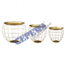 wholesale Other: Table set bulbous, gold, set of 3