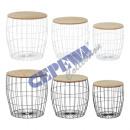 Table set basket bulbous, 2 / s, 3pcs