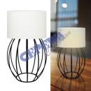 wholesale Lampes: Table lamp struts, bulbous, white, approx. 45cmH