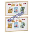 wholesale Pictures & Frames: Picture Frame Clothesline 2 / s, gr, 52x31cm
