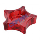 Świecznik Star, czerwony, 8x2 cm