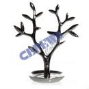 Großhandel Schmuck-Aufbewahrung: Schmuckhalter   Baum , silber, ca. 21cm