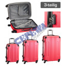 wholesale Suitcases & Trolleys: Trolley case set 'Style', 3pcs, pink
