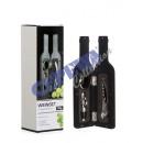 Weinset in  Flaschenform 3tlg, 23,5cm