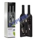 groothandel Food producten: Wijn set in vorm  van de fles 5tlg, 32cm