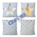 grossiste Coussins & Couvertures: oreiller  Stars ,  gris, environ 40x40 cm, 4 / s