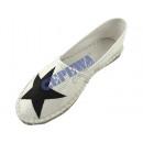 wholesale Shoes: Women Espadrilles   Star , black / white, 2 / s