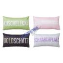 Großhandel Home & Living: Kissen 'Spr�che', 4/s, ca. 36x20 cm
