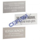 groothandel Home & Living: Metal sign   problemen , 3 / s, 40x19cm