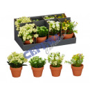 wholesale Artificial Flowers: Artificial pot in pot, 4 / s, in Display