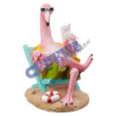 wholesale Other: Flamingo in deck chair, large, about 16cmH