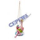 Großhandel Pool & Strand: Hänger Flamingo in Schimmring, ca. 20cmH