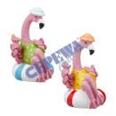 Großhandel Wassersport & Strand: Flamingo in Schimmring, klein, 2/s, ca. 8cmH