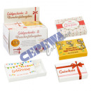 Confezione regalo in denaro, colorata, 4 / s, 24 p