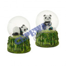 Großhandel Schneekugeln: Schneekugel Panda, 2/s, klein, ca. 7cmH