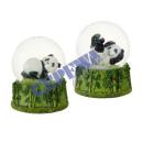 mayorista Bolas de nieve: Panda de globo de nieve, 2 / s, grande, ca. 9cmH
