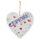 Wieszak konfetti serce, około 20cmH